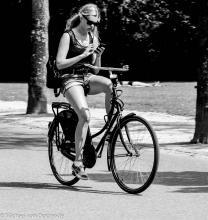 Bike app Street Photography Amsterdam