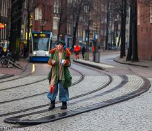 Street Photography Amsterdam city girl