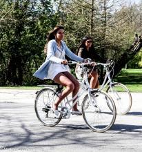 Street Photography Amsterdam Bike babe