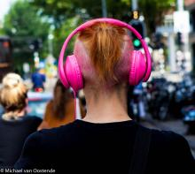 Street Photography Amsterdam Headphone