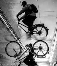 Street Photography Amsterdam upsite down