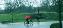 Street Photography Amsterdam Red umbrella