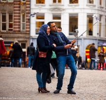 Street Photography Amsterdam selfie damsqauare